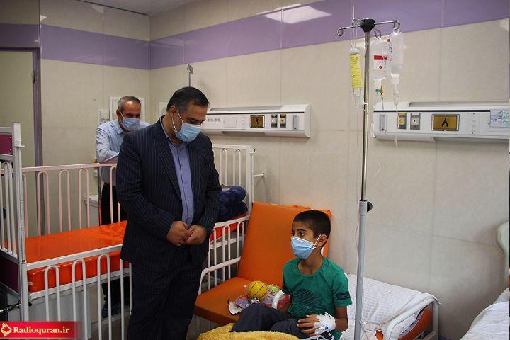 دیدار مدیر رادیو قرآن از بخش ویژه بیمارستان کودکان اراک