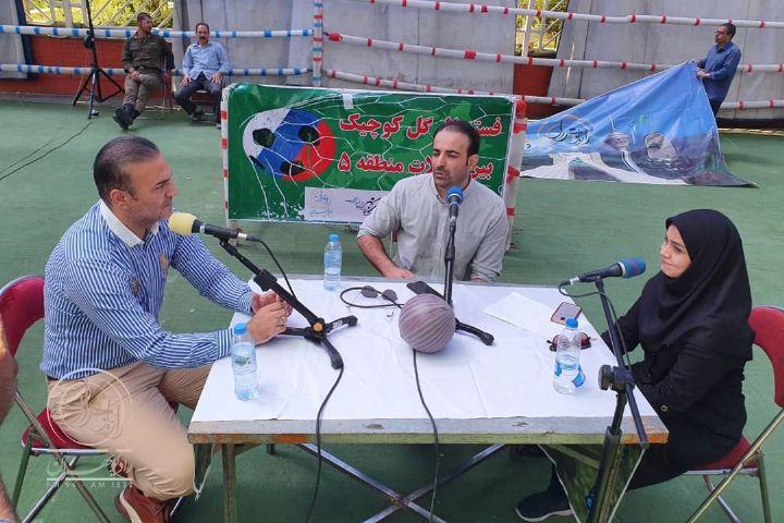 اجرای زنده «تهران ورزشی» در بوستان میعاد