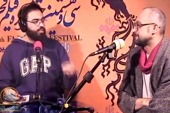 پشت صحنه در جشنواره فیلم فجر