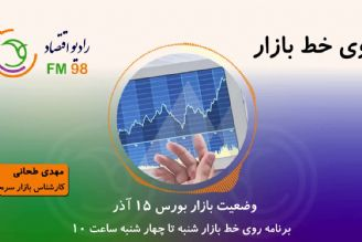 وضعیت بازار بورس 15 آذر