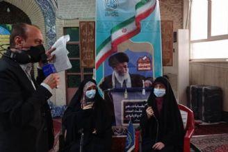 انتخابات و حضور گسترده مردم در مسجد لرزاده تهران