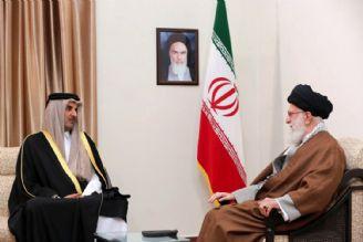 رهبر معظم انقلاب اسلامی در دیدار امیر قطر و هیئت همراه: علت وضع نامناسب منطقه فسادانگیزی آمریکا و رفقای آن است.