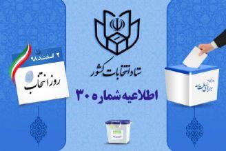 اطلاعیه شماره 30 ستاد انتخابات كشور