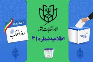 اطلاعیه شماره 31 ستاد انتخابات كشور