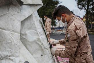 بیمارستان سیار سپاه در محوطه بیمارستان رازی گیلان استقرار یافت