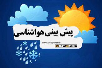 پیش بینی بارش باران در برخی از مناطق کشور