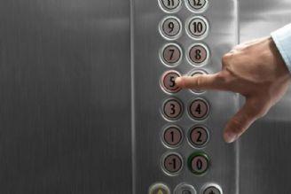 کرونا / دکمه آسانسور