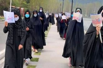 اعتراض بانوان مسلمان کشمیری به اقدام ضدفرهنگی هند در سرینگر