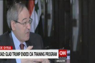 فیصل مقداد در گفتگو با سی ان ان؛ آمریکاییها مجوز پرواز در سوریه را ندارند