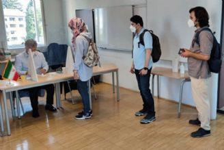 حضور پرشور هموطنان ایرانی مقیم خارج از کشور در پای صندوقهای رای