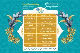 اعلام برندگان مسابقه پیامکی روز دو شنبه 14 تیرماه طرح ملی قرآنی 1455