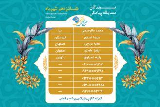 اعلام برندگان مسابقه پیامکی روز چهارشنبه 16 تیرماه طرح ملی قرآنی 1455