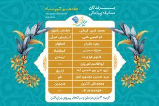 اعلام برندگان مسابقه پیامکی روز  پنج شنبه  17  تیرماه طرح ملی قرآنی 1455