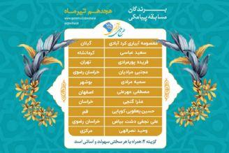 اعلام برندگان مسابقه پیامکی روز جمعه 18 تیرماه طرح ملی قرآنی 1455
