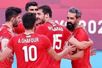 دشت دومین پیروزی والیبال ایران/ دستگرمی در حد المپیک!